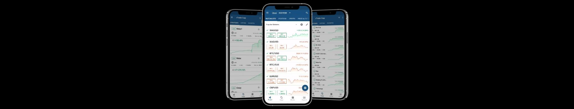 Copy trade on your mobile with the TopFX cTrader app